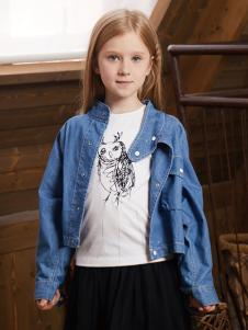 YukiSo童装女童牛仔外套18春款