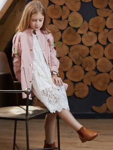 YukiSo女童粉色夹克18新款