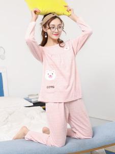 2018珍妮芬粉色睡衣