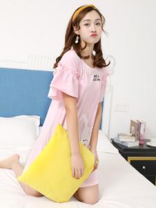 珍妮芬女款睡衣18新款