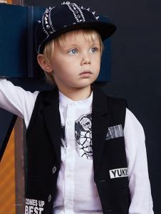 YukiSo童装18男童衬衫两件套