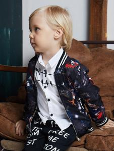 YukiSo童装男童印花外套18新款