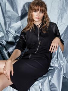 ik 黑色连衣裙