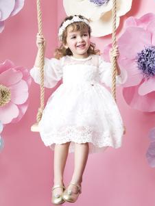 米拉熊女童连衣裙