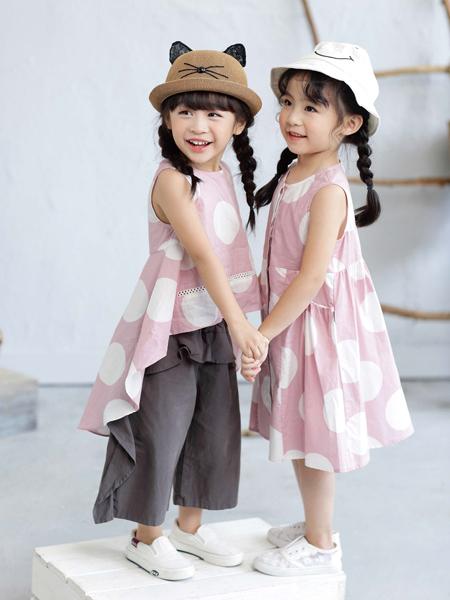 棣仔童装女童波点连衣裙