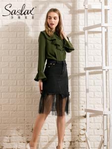 莎斯莱思女装新款网纱半裙