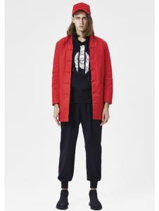 JPE18春装新款红色上衣