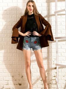 莎斯莱思女装新款牛仔热裤