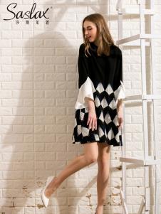 莎斯莱思女装新款格子连衣裙
