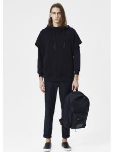 JPE18春装新款黑色卫衣