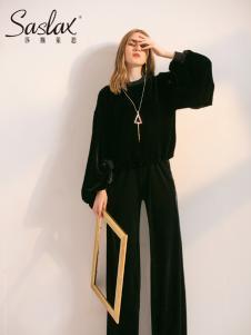 莎斯莱思女装新款黑色套装