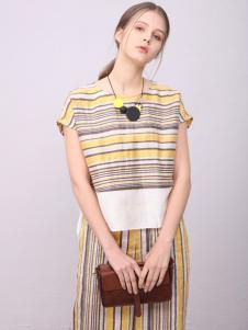 子容条纹连衣裙系列