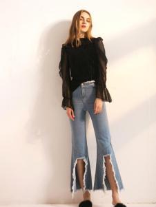莎斯莱思女装新款牛仔裤