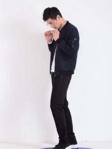 莎斯莱思男装新款黑色外套