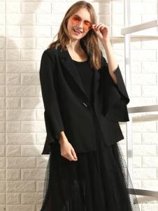 莎斯莱思女装新款黑色外套