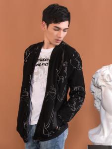 莎斯莱思男装新款印纹外套
