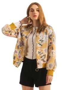 莎斯莱思女装新款印花外套