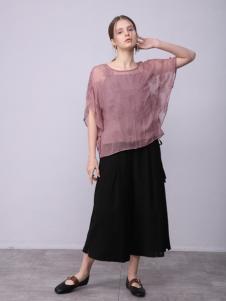 子容2018女装新品浅紫色半裙