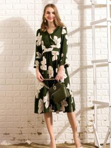 莎斯莱思女装新款印花连衣裙