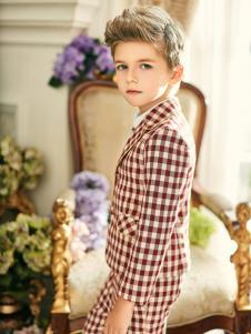 瑞比克18新款男童格子衬衫