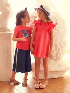 IKKI春装新款红色连衣裙