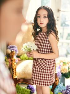 瑞比克2018新款格子连衣裙