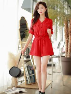 YOSUM18新款红色连衣裙