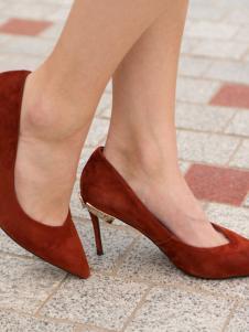 集迦红色女鞋