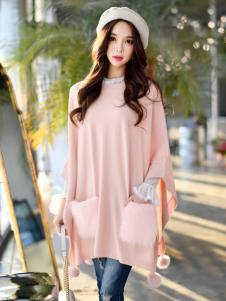 YOSUM18新款粉色卫衣