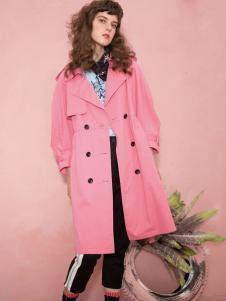 深圳西蔻女装18甜美风衣外套