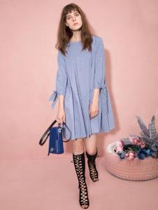 西蔻女装2018甜美连衣裙