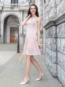 迪奥女装连衣裙粉色系列