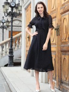 迪奥女装黑色衬衫裙18新款