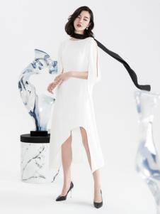 ECA女装2018时尚白色连衣裙