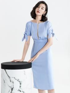 ECA女装修身连衣裙18新款
