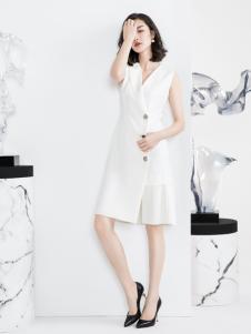 ECA女装优雅小白裙18新款