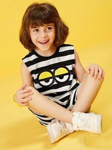 小太平鸟童装品牌新品条纹背心