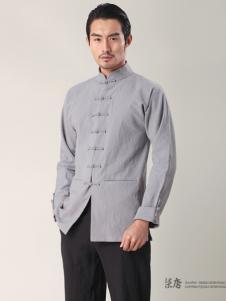 柒唐男装新品浅灰色