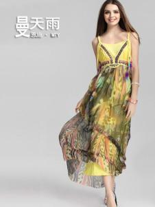 曼天雨女装新品印花裙