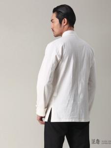 柒唐男装新品白色