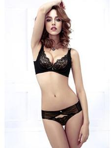 兰黛丽莎内衣新品黑色性感套装