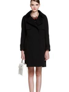 5+女装新品黑色大衣