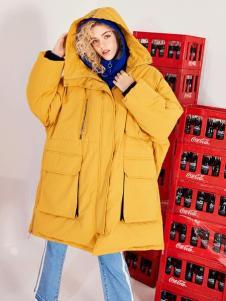 简惑新款姜黄色棉衣