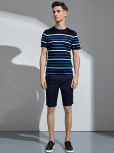 VASTO男装条纹T恤