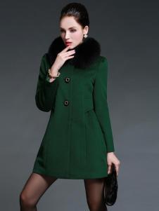 佑芙妮女装绿色连衣裙