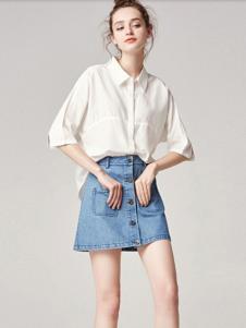 麦光女装新款白衬衫