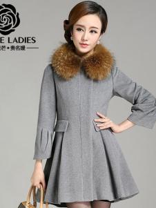 贵名媛女装新款毛领大衣