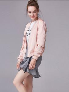 麦光女装新款粉色外套