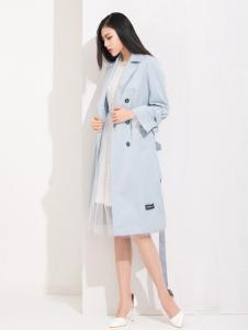丹比奴女装蓝色大衣
