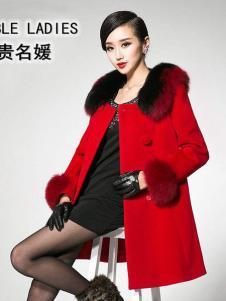 贵名媛女装新款红色大衣